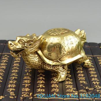 Longevity turtle antique bronze ware dragon turtle ornament eight trigrams Yuanbao dragon head turtle ornament