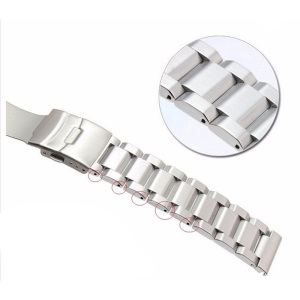 Image 4 - Rolamy 18 20 22 24mm New Man Silver Brushed Solid Stainless Steel Bracelet Watch Band Strap Belt For Seiko Tudor Tag Heuer