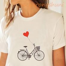 T camisa mujeres camiseta de moda de bicicleta estampado gráfico de verano camisas de hombre de moda puro Hipster Casual camiseta vintage de la nave de la gota