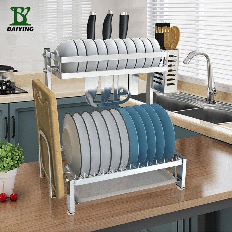 Wain Home 304 haute qualité en acier inoxydable Double couche cuisine multi-fonctionnelle stockage organisateur baguettes couteau reste Cuttin