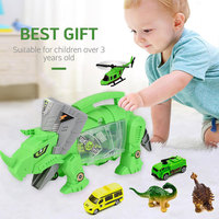 2019 Mini Simulation Dinosaur Toy Car Model Portable Storage Carrier For Kids Children Engineering Vehicle Toys Home Decor Gift