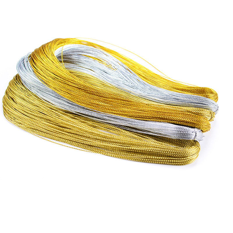 10m Rope Gold Silver Cord Gift Packaging String Metallic Jewelry Thread Cord DIY Tag Line Bracelet Making Labels Mark Lanyard(China)