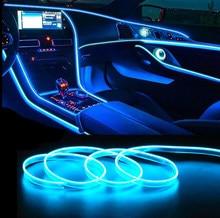 Cable de luz LED para EL Interior del coche, tira de luces LED ambiental, guirnalda de iluminación de neón, decoración de tubos flexibles, colores