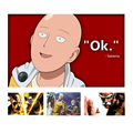 One Punche Man Saitama Japanese Anime Canvas Painting Wall Art Poster Printing Picture Children's Bedroom Decoration