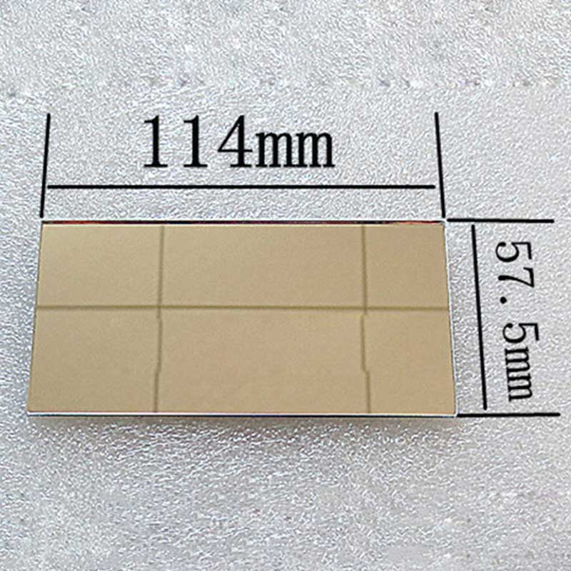 Mini Projector Front Surface Reflector Projector Mirror DIY Accessories High Reflectivity Lens 1PC 114*57.5*2mm