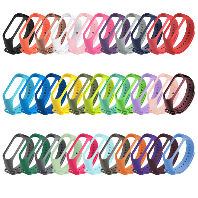 Sport Bracelet For Xiaomi Mi Band 3/4/5 strap Silicone TPU Wristband accessories for xiaomi miband 5 straps MiBand 4 bracelets