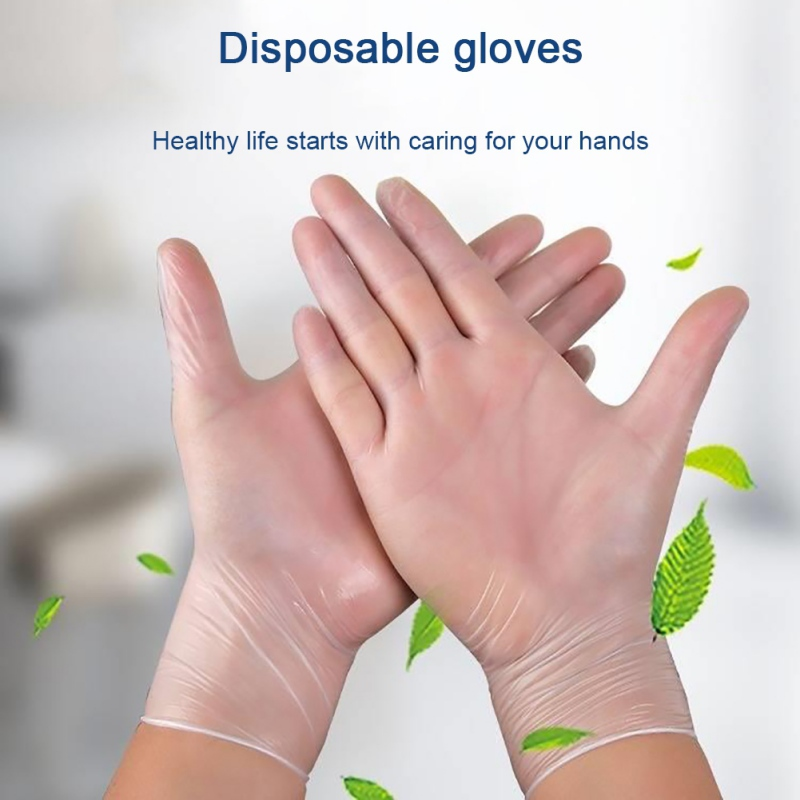 Disposable Gloves Thicken PVC Gloves Box Of  50 PCS Latex Free Powder Free Textured S M L Fast Drop Shipping