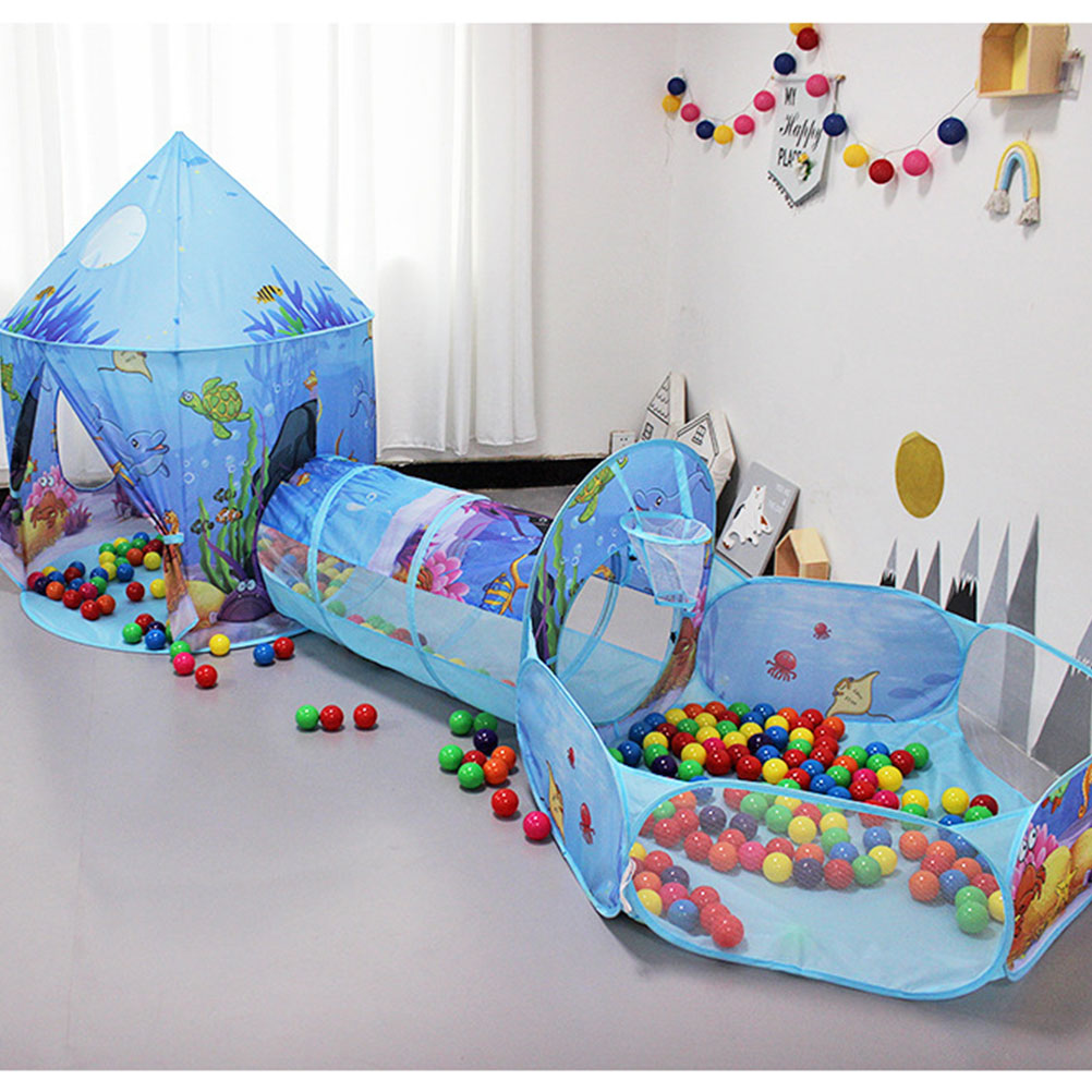 Indoor Mini Kids Amusement Park Creative Kids Playing Tent Funny Indoor Crawling Tunnel Toy Ocean Ball Pool Game Tent Toy