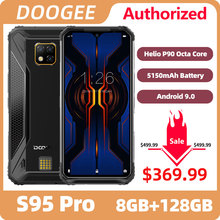DOOGEE S95 Pro IP68/IP69K Helio P90 Octa Core 8GB 128GB Modular Rugged Mobile Phone 6.3inch Display 5150mAh 48MP Cam Android 9