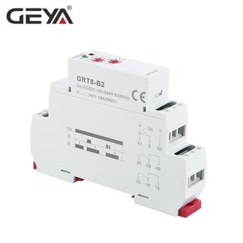 GEYA-relé electrónico de tiempo de retardo de GRT8-B, 16A, AC230V o CA/DC12-240V, con certificado CE CB, envío gratis 2