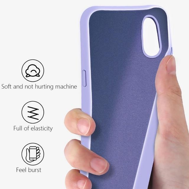 Liquid Silicone Case For Xiaomi Mi Note 10 Pro 9 SE 9T Pro A3 A2 Lite Slim Soft Cover For Xiaomi Redmi Note 9s 8 Pro 7 8T 8A 10T 6