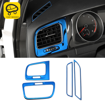 CARMANGO for VW Volkswagen Golf 7 7.5 MK7 2013-2017 Car A/C Air Vent Outlet Panel Cover Trim Frame Sticker Interior Accessories