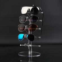 Llegada de 5 pares de gafas de sol de moda de acrílico de exhibición de mostrador de gafas soporte de exhibición transparente
