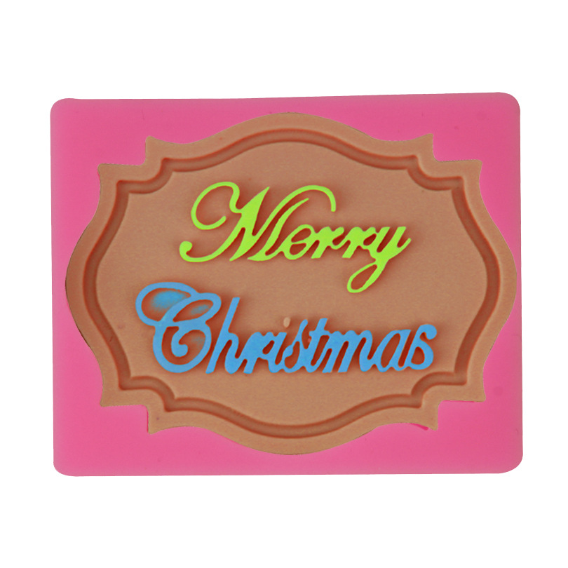1Pcs Merry Christmas <font><b>Letter</b></font> Form DIY Silicone Mold Chocolate Fondant <font><b>Cake</b></font> <font><b>Decoration</b></font> <font><b>Tools</b></font> <font><b>Cake</b></font> Baking <font><b>Tools</b></font> For Kitchen image