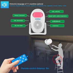 Image 3 - KERUI M120 Smart 100db PIR Infrared Anti Theft Burglar Welcome Multifunction Human Motion Detector For Garage Shop Home Security