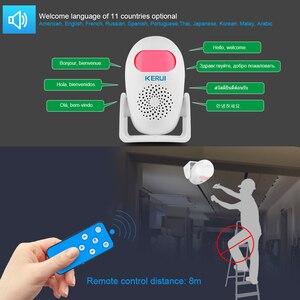 Image 3 - KERUI M120 Smart 100db PIR Infrarot Anti Diebstahl Einbrecher Willkommen Multifunktions Menschliches Motion Detektor Für Garage Shop Home Security
