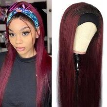 Abijale, бразильские прямые человеческие волосы, парики с челкой, полный машинный парик, Remy, человеческие волосы, парики без шнурка спереди