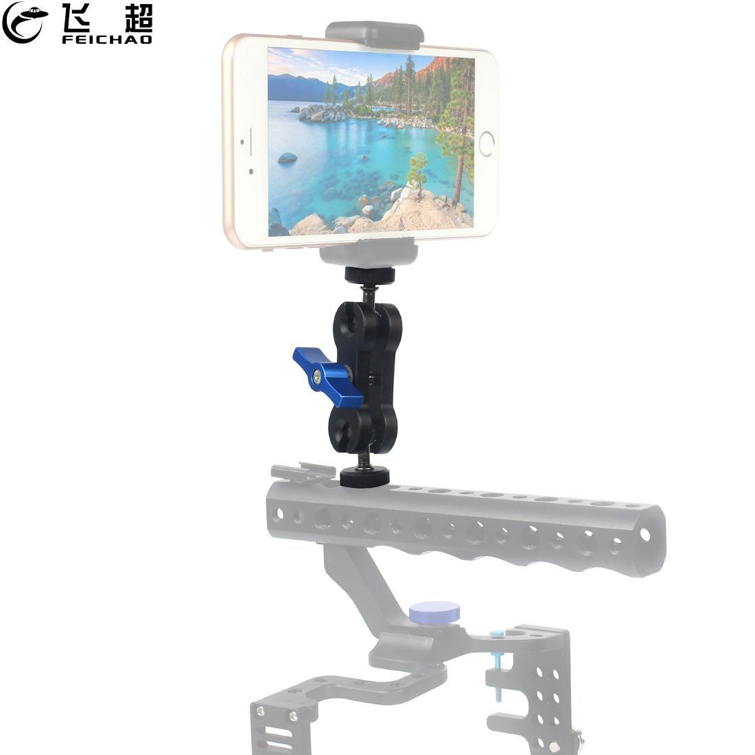 "Multi-Function Double Ball Head Bracket 360 Magic Arm Mount 1/4"" Tripod Adapter CNC for Monitor LED Light DSLR Camera Accessory"