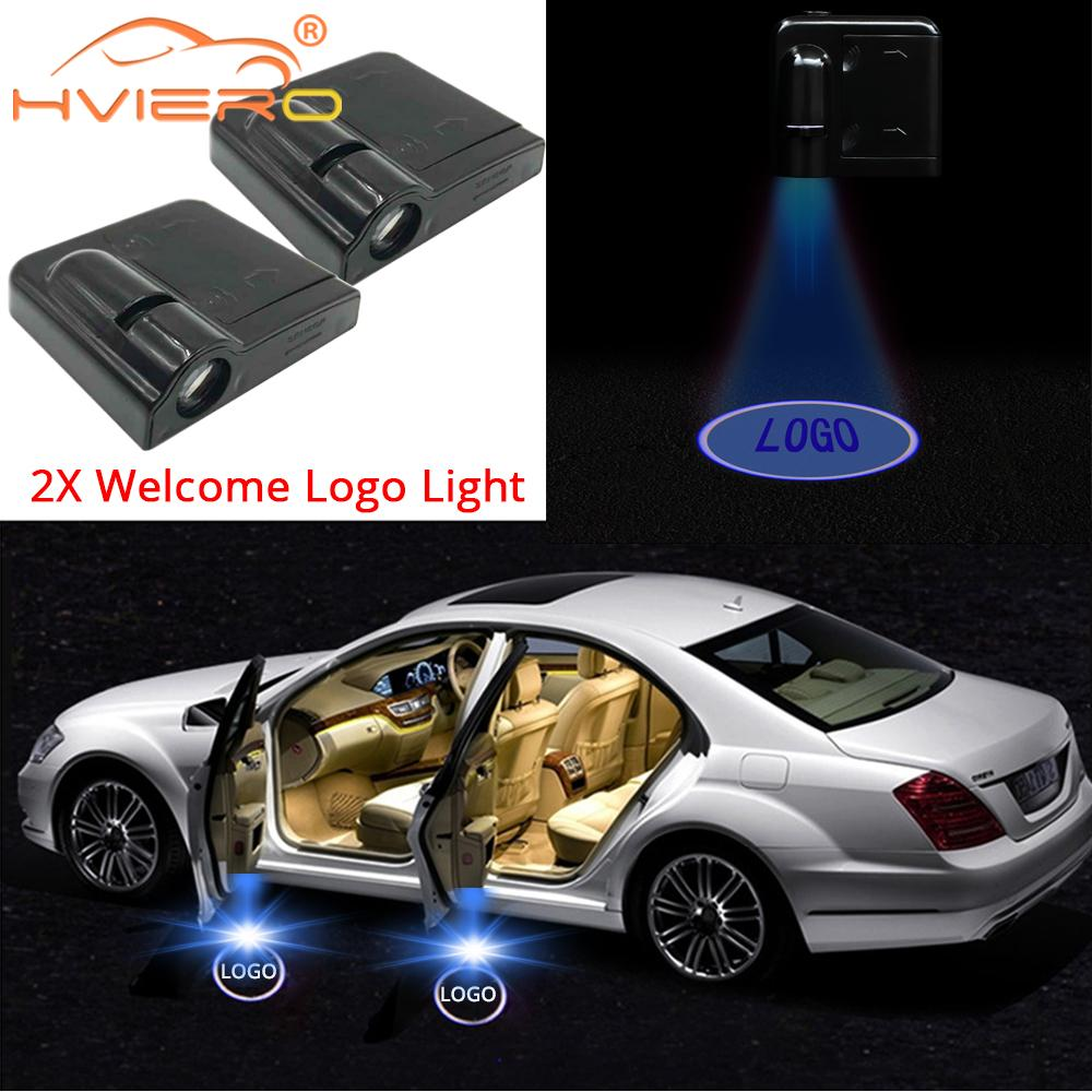 2Pcs Auto Universal Wireless Door <font><b>Led</b></font> Welcome Light Projection <font><b>Lamp</b></font> for <font><b>Renault</b></font> <font><b>Led</b></font> Laser Buld for Lada Door Light For Volvo <font><b>Led</b></font> image