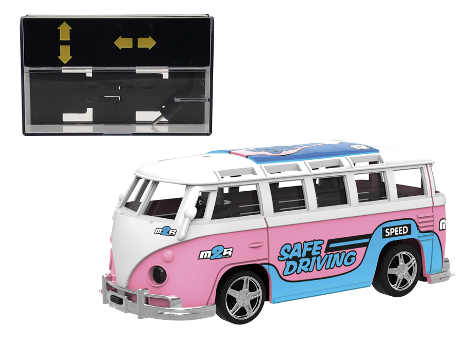 RC Car Mini Size 2.4G Remote Control Bus Car 1:64 Baby Classic Mini Bus With Light For Children Boy Gifts Mini Toys