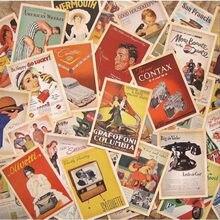 32 pçs retro antigo foto cartão clássico filme dos desenhos animados dairy álbum decoração da parede cartaz do vintage cartão colecionável papelaria presente