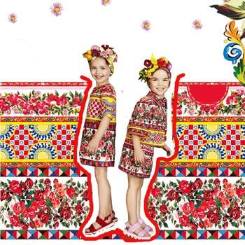 Jacquard printed fabric brand digital printed fabric meter fashion dress handmade DIY jacquard fabric wholesale cloth