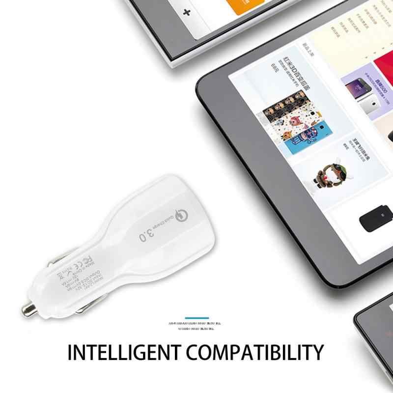 De carga rápida USB 3,0 cargador de coche para IPhone Xiaomi Huawei Auto tipo C PD rápido cargador de móvil para coche cargador mini USB de coche