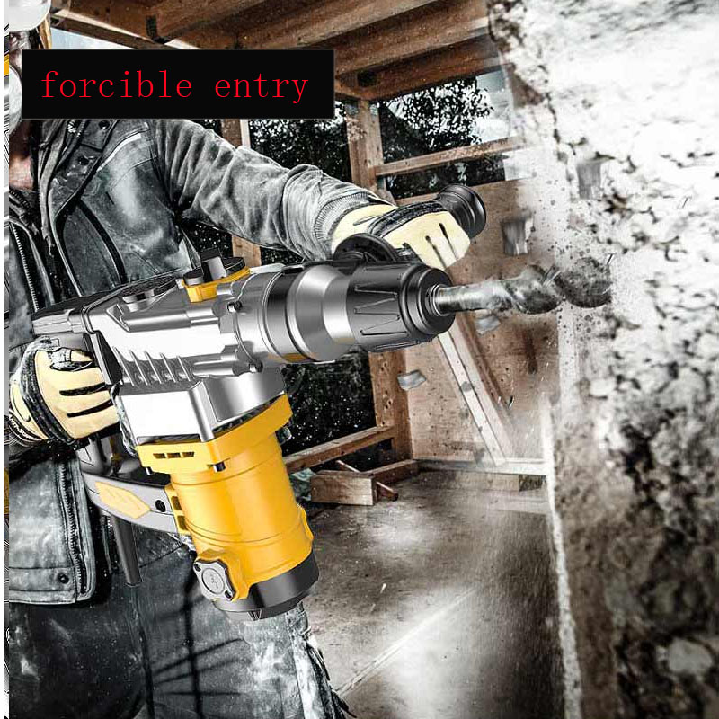 H2850c34197a243e4907c2376c9ab8bfas - An jieshun electric hammer electric pick dual-purpose multi-function household impact drill electric drill tool combination set