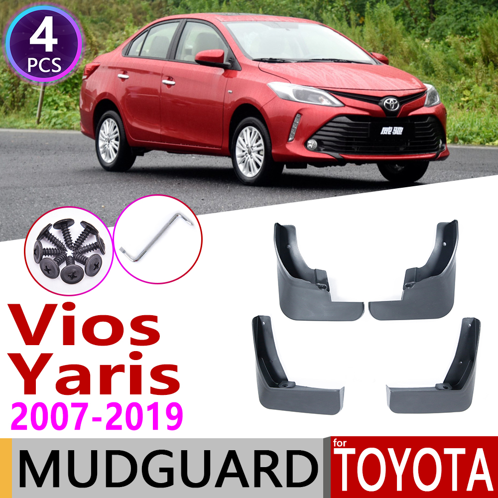Для Toyota Vios Yaris седан 2007 ~ 2019 XP90 90 XP150 150 брызговик крыло брызговики брызговик ЛОСКУТ аксессуары
