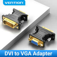Vención de La Adaptador DVI a VGA DVI-I 24 + 5 macho a VGA hembra convertidor 1080P Cable para HDTV proyector PC monitor VGA a DVI