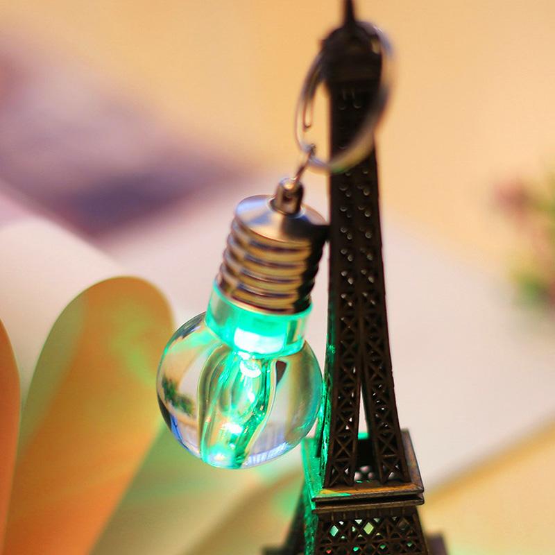 LED Bulb Keychain Pendant Mini Bulbtorch Keyring Flash Light Lamp LAD-sale