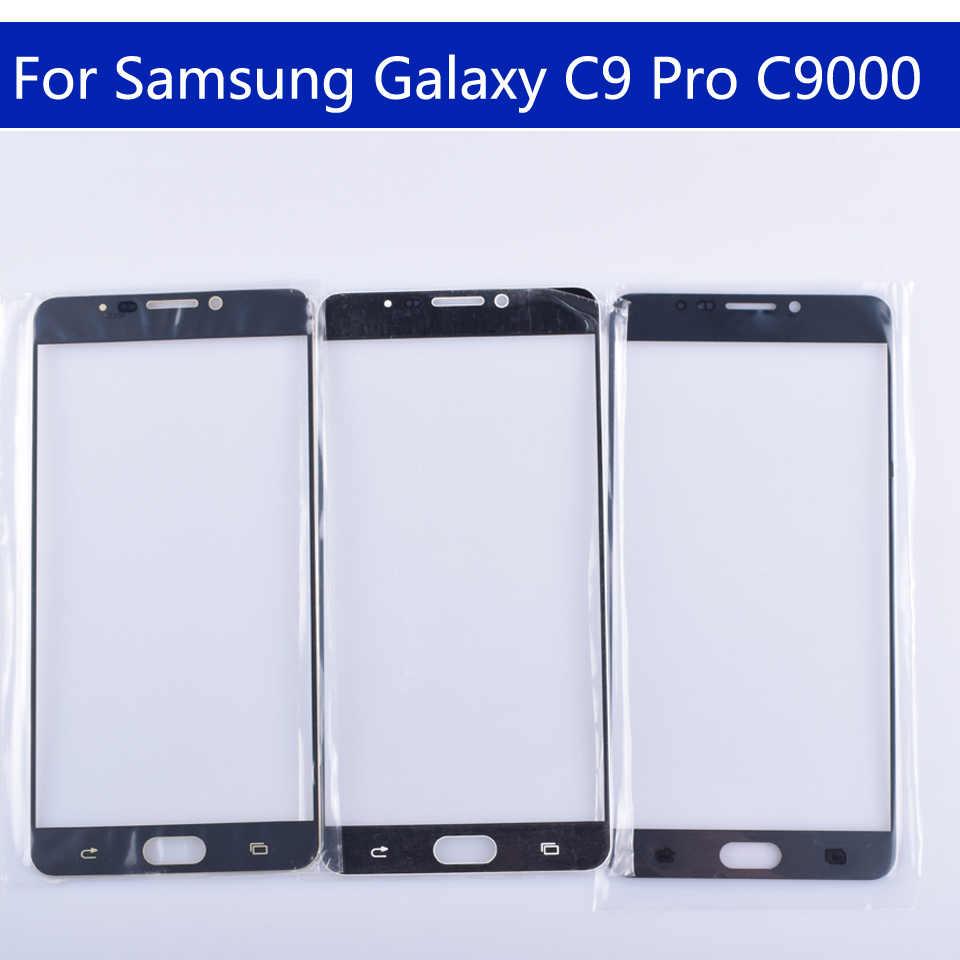 """6.0 """"עבור גלקסי C9 פרו C9000 SM-C9000 C900 מגע מסך קדמי זכוכית פנל מסך מגע חיצוני זכוכית עדשה לא LCD"""