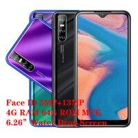 Teléfono Inteligente A50, Android, 4GB RAM, 64GB ROM, cámara de 13,0mp, pantalla gota de agua de 6,26 pulgadas, Quad Core, identificación facial