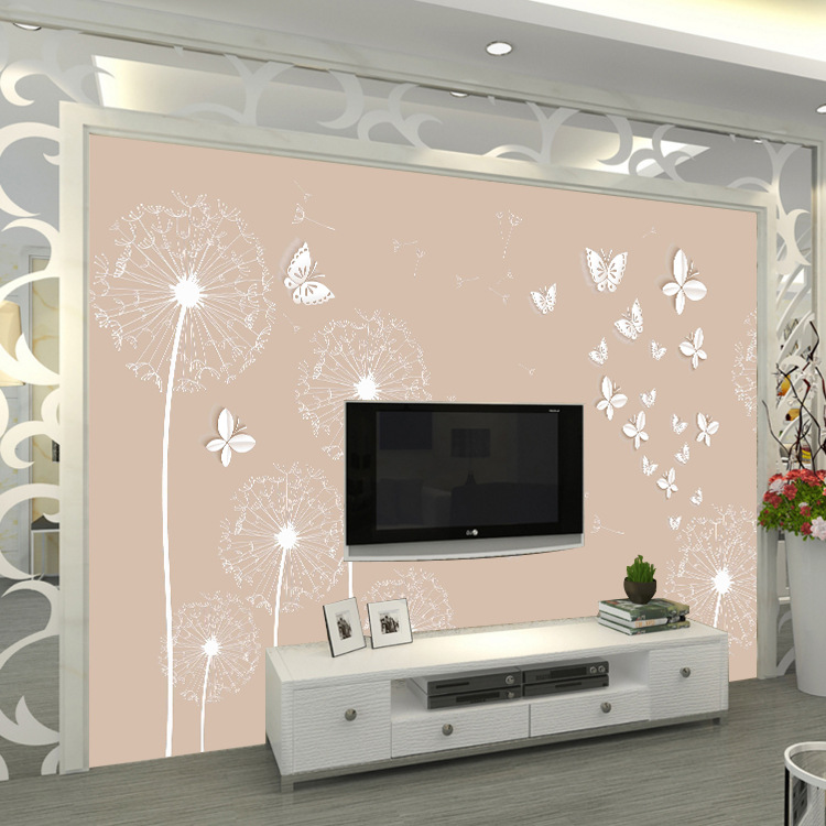3D TV Backdrop Decoration Living Room Bedroom Wallpaper Seamless Mural Warm Environmentally Friendly Wallpaper Minimalist Modern