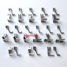 14 Sets Walking Piping & Welting Zipper Feet For Juki Du-141 1181 Econosew 797