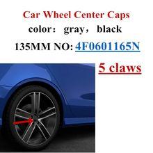 4pcs 135 milímetros Car styling Carro Do Centro de Roda Cap Hub Caps emblema 4F0601165 4F0601165N Para A3 A4 A5 A6 A7 A8 s4 s6
