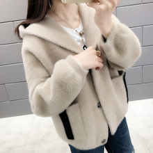 Coat Sweater Outer-Wear Female Mink Cashmere-Knit Winter Women's Cardigan Spring Thicker