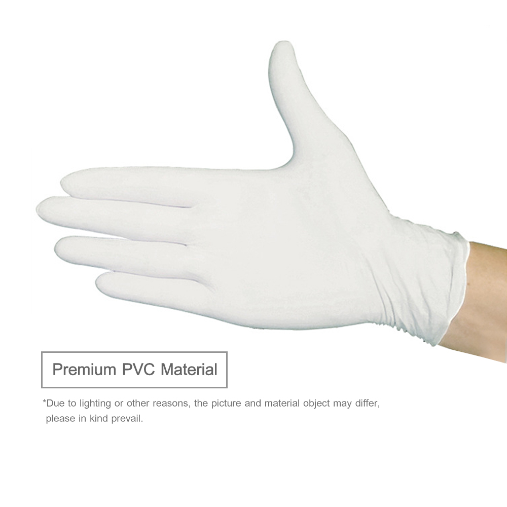 Image 4 - 100PCS/Box Disposable PVC Gloves Powder Free Gloves for Home Restaurant Kitchen Catering Food Process Examination UseSafety Gloves   -