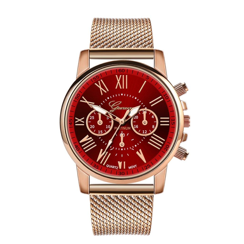 Роскошные Кварцевые часы для женщин и мужчин влюбленные пара Женские наручные часы Миланская нержавеющая сталь циферблат новое поступление - Цвет: G