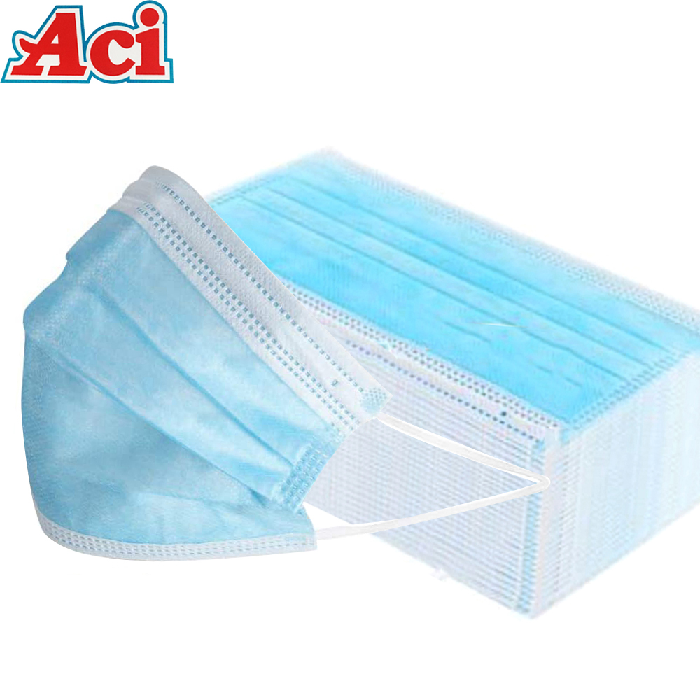 ACI 1-50pcs Masks Non-woven 3-layer Filter Protection Masque Disposable Anti-dust Mouth Nose Safety Mouth Face Masks