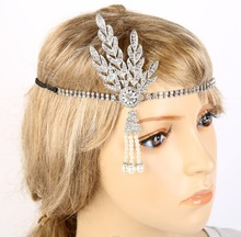 1920s Flapper Accessory  Great Gatsby Headband Tiara Cosplay Vintage Bridal Costume Accessories wedding hair accessories
