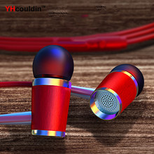3.5mm In-Ear Stereo Earbuds Earphone With Mic for Xiaomi Mi Huawei Honor Mobile Phone MP3 MP4(China)