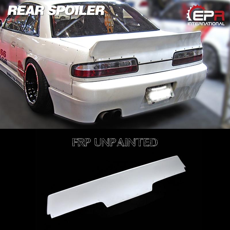 FRP Rear Trunk Spoiler Wing Lip RB Style For Nissan Skyline R32 GTR Carbon