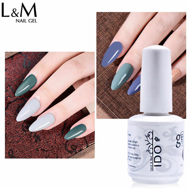 6 Pcs/lot Baru Seri Warna Membuat Anda Logo Label Diy Gel Nail Polish Rendam Off UV 15 Ml polandia LED Berbentuk Kuku Warna-warni