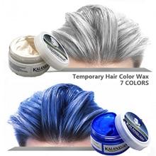 1 шт., краска для волос, временная формовочная паста, 8 цветов,, синий, бордовый, бабушка серая, зеленая краска для волос, воск, грязь, для укладки, помада