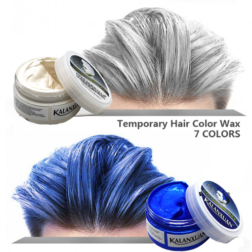 1pc Hair Color Wax Dye Temporary Molding Paste 8color Available BLUE Burgundy Grandma Gray Green Hair Dye Wax Mud Styling Pomade
