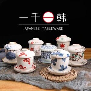 Японская столовая посуда, керамическая маленькая тушеная чашка с крышкой, домашнее тушеное яйцо, чайная чашка, десерт, миска для супа