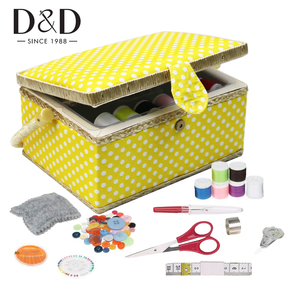 Sewing Storage Basket with Sewing Kits Storage Box Cotton Fabric Crafts DIY Quilting Thread Stitching Embroidery Tools Organizer|Sewing Tools & Accessory| - AliExpress
