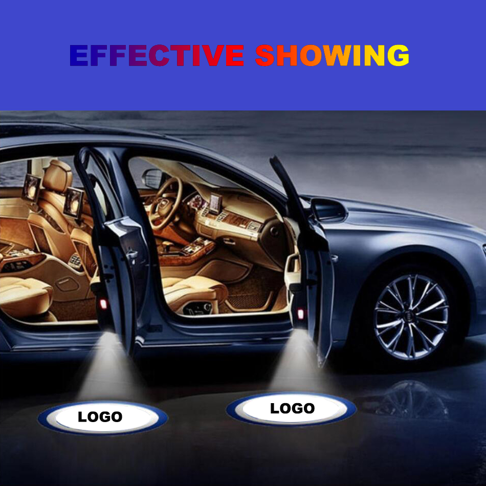 LED Laser Projector Light Car Door Welcome Lights Luces Para Auto Accessories Coche Interior Logo Luz For VW Volkswagen TOUAREG