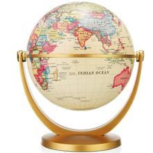 19cm Retro Globe 360 Rotating Earth World Ocean Map Ball Antique Desktop Geography Learning Education Home School Decoration